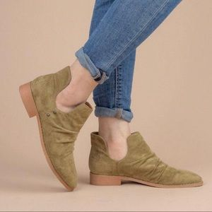 Mi.iM- The Freedom-Olive Suede Cut Out Bootie